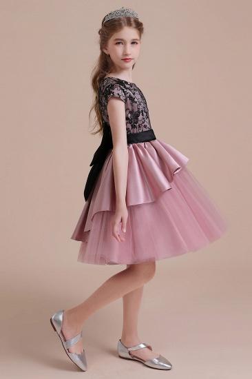 BMbridal A-Line Cap Sleeve Lace Tulle Knee Length Flower Girl Dress On Sale_7
