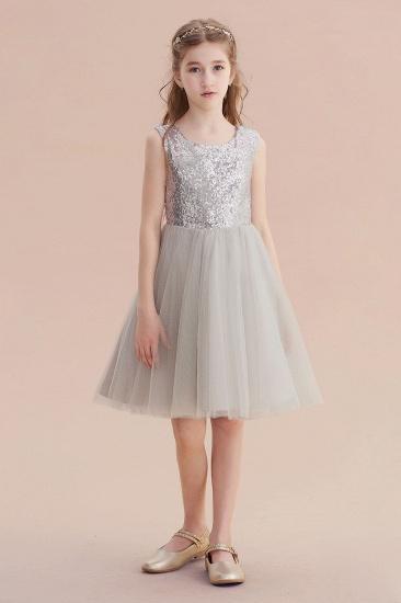 BMbridal A-Line Elegant Sequins Tulle Flower Girl Dress On Sale_6
