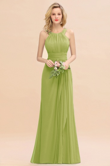 Elegant Round Neck Sleeveless Stormy Bridesmaid Dress with Ruffles_34