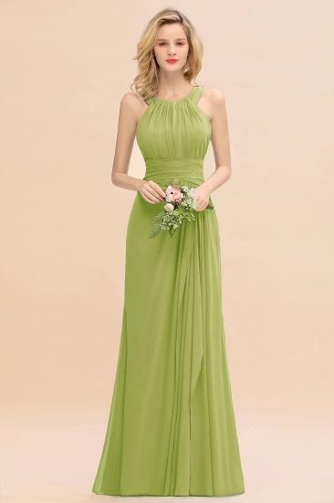 BMbridal Elegant Round Neck Sleeveless Stormy Bridesmaid Dress with Ruffles_34