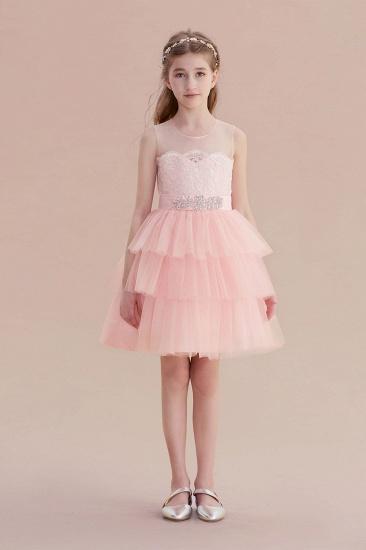 BMbridal A-Line Graceful Layered Tulle Flower Girl Dress Online_1