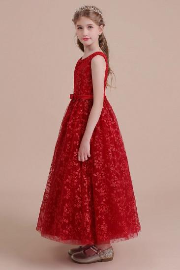 BMbridal A-Line Elegant Ankle Length Tulle Flower Girl Dress Online_4