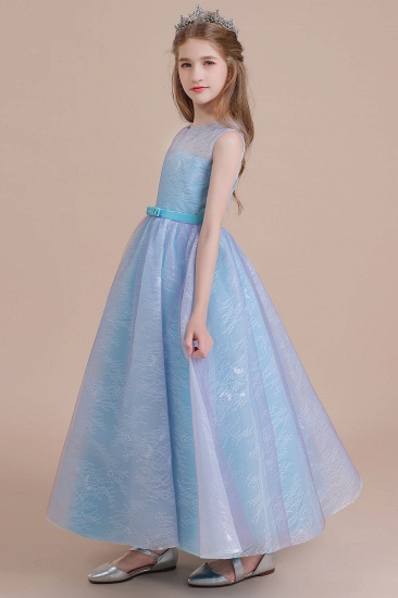 BMbridal A-Line Illusion Lace Tulle Flower Girl Dress Online_5