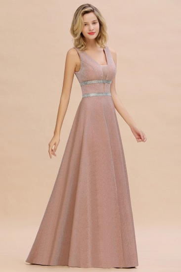 Shinning V-Neck Sleeveless Long Prom Dress Online With Zipper Back_8