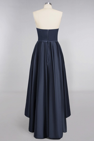 BMbridal Affordable Hi-Lo Strapless Satin Bridesmaid dresses Online_10