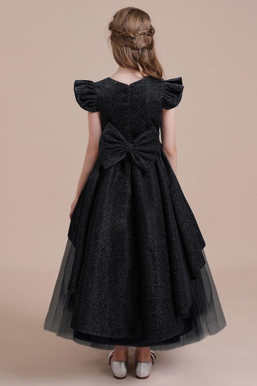 BMbridal A-Line Glitter Cap Sleeve Tulle Flower Girl Dress On Sale_3