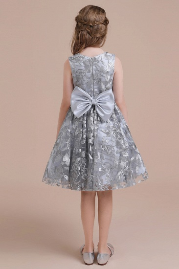 BMbridal A-Line Chic Bow Tulle Flower Girl Dress Online_3