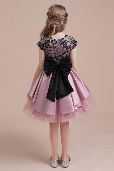 BMbridal A-Line Cap Sleeve Lace Tulle Knee Length Flower Girl Dress On Sale_3