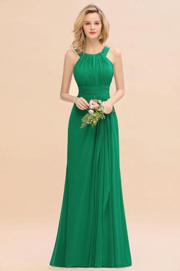 BMbridal Elegant Round Neck Sleeveless Stormy Bridesmaid Dress with Ruffles_49