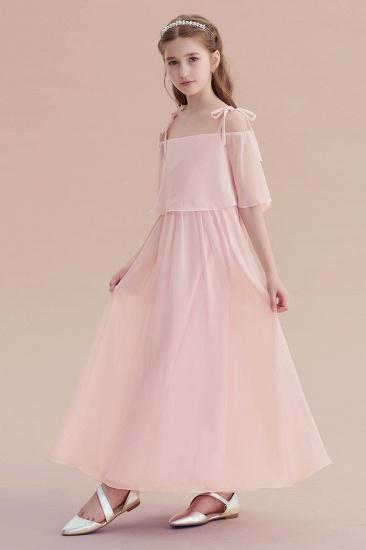 BMbridal A-Line Cold-shoulder Chiffon Flower Girl Dress Online_7