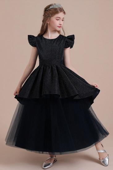 BMbridal A-Line Glitter Cap Sleeve Tulle Flower Girl Dress On Sale_4