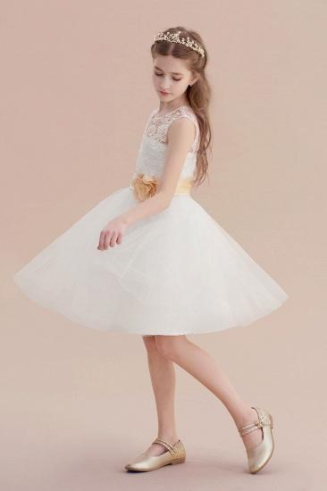 BMbridal A-Line Lace Tulle Knee Length Dress Flower Girl Dress Online_4