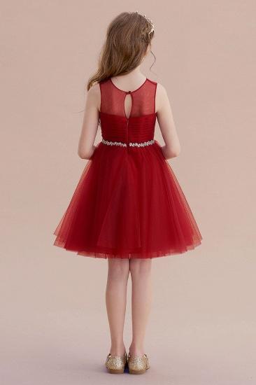 BMbridal A-Line Illusion Tulle Knee Length Flower Girl Dress Online_3