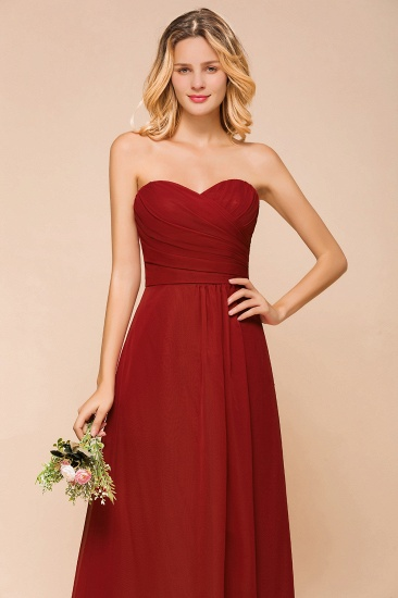 Gorgeous Sweetheart Strapless Rust Bridesmaid Dresses with Ruffle_9