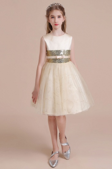 BMbridal A-Line Cute Sequins Tulle Flower Girl Dress Online