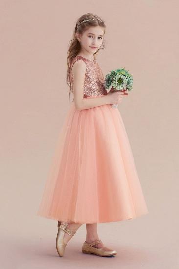 BMbridal A-Line Graceful Sequins Tulle Flower Girl Dress On Sale_4