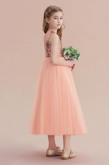 BMbridal A-Line Graceful Sequins Tulle Flower Girl Dress On Sale_7