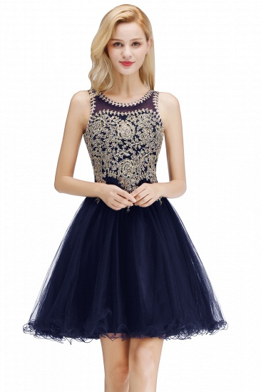 BMbridal A-line Tulle Lace Homecoming Dress with Beadings_2