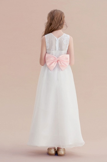 BMbridal A-Line Illusion Lace Tulle Flower Girl Dress Online_3