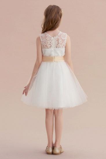 BMbridal A-Line Lace Tulle Knee Length Dress Flower Girl Dress Online_7