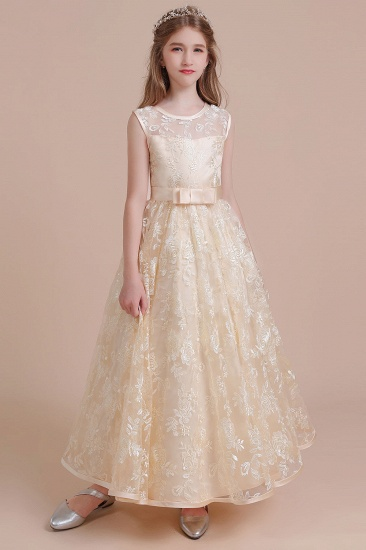 BMbridal A-Line Amazing Lace Tulle Flower Girl Dress Online
