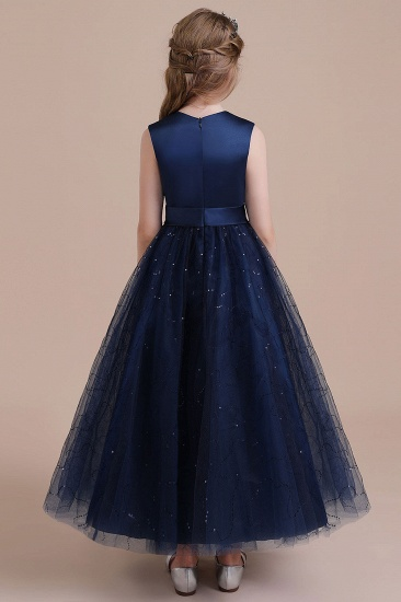 BMbridal A-Line Chic Bow Tulle Flower Girl Dress Online_3
