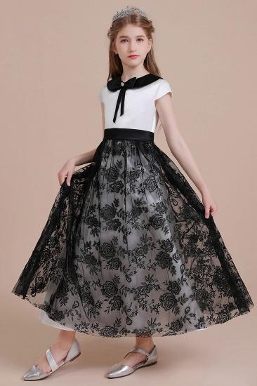 BMbridal A-Line Cute Lace Cap Sleeve Flower Girl Dress On Sale_6