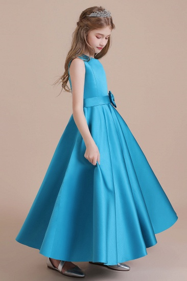 BMbridal A-Line Awesome Satin Flower Girl Dress Online_4
