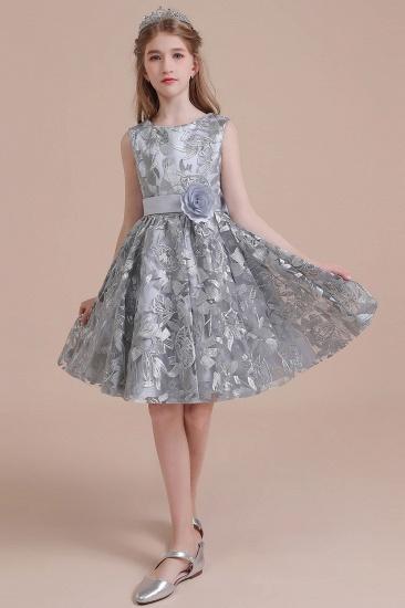 BMbridal A-Line Chic Bow Tulle Flower Girl Dress Online_6