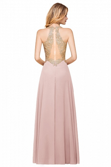 BMbridal Gorgeous V-Neck Burgundy Prom Dress Long Sleeveless Evening Gowns With Appliques_16