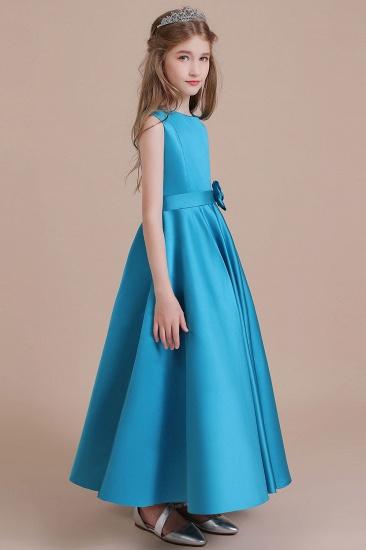 BMbridal A-Line Awesome Satin Flower Girl Dress Online_5