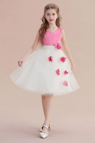 BMbridal A-Line Affordable Tulle Flower Girl Dress Online_1
