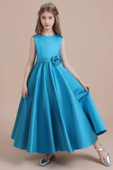BMbridal A-Line Awesome Satin Flower Girl Dress Online_7