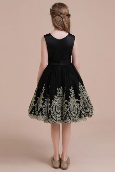 BMbridal A-Line Appliques Satin Tulle Flower Girl Dress Online_3