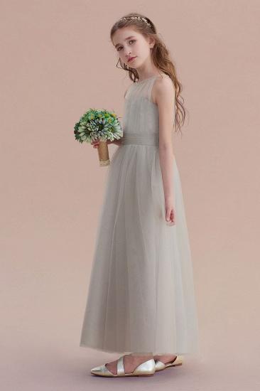 BMbridal A-Line Chic Ankle Length Tulle Flower Girl Dress Online_6