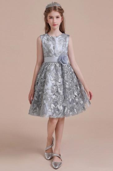 BMbridal A-Line Chic Bow Tulle Flower Girl Dress Online_1
