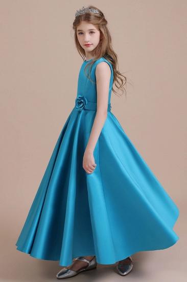 BMbridal A-Line Awesome Satin Flower Girl Dress Online_6