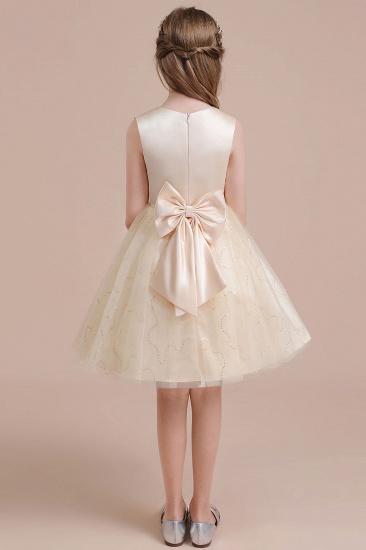 BMbridal A-Line Cute Sequins Tulle Flower Girl Dress Online_3