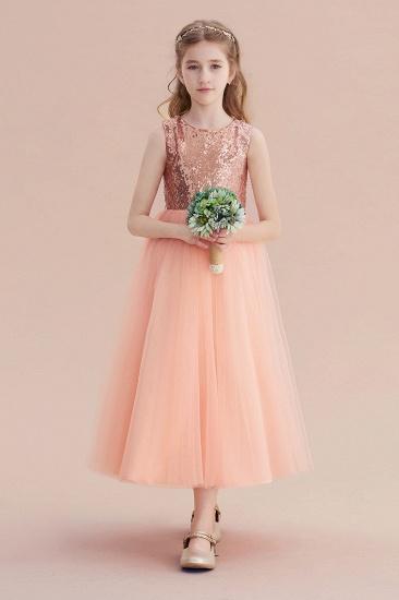 BMbridal A-Line Graceful Sequins Tulle Flower Girl Dress On Sale_6