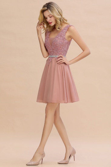 BMbridal Lovely Sleeveless Short Prom Dress Mini Homecoming Dress With Appliques_13