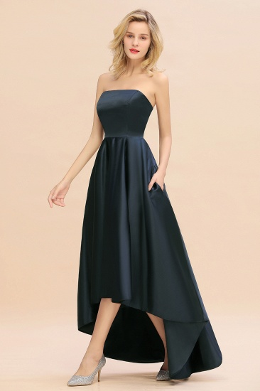 BMbridal Affordable Hi-Lo Strapless Satin Bridesmaid dresses Online_5