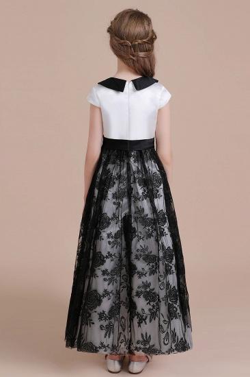 BMbridal A-Line Cute Lace Cap Sleeve Flower Girl Dress On Sale_3