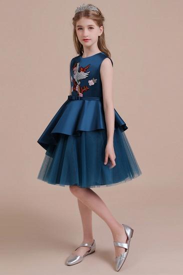 BMbridal A-Line Embroidered Satin Tulle Flower Girl Dress On Sale_6