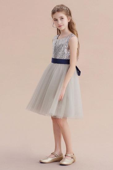 BMbridal A-Line Elegant Sequins Tulle Flower Girl Dress On Sale_4
