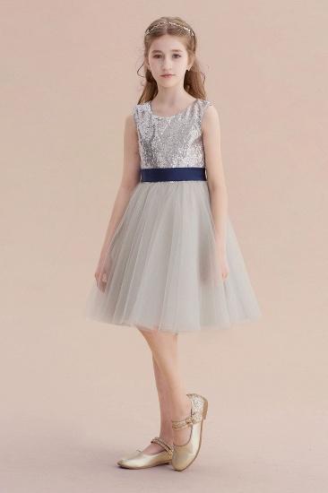 BMbridal A-Line Elegant Sequins Tulle Flower Girl Dress On Sale_1