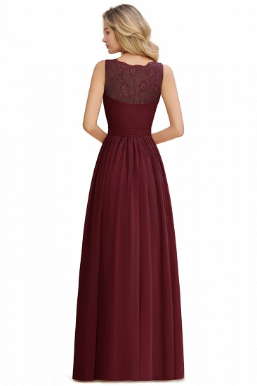 BMbridal A-line Chiffon Lace V-Neck Ruffles Bridesmaid Dress_18