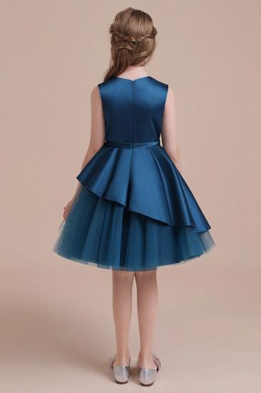BMbridal A-Line Embroidered Satin Tulle Flower Girl Dress On Sale_3