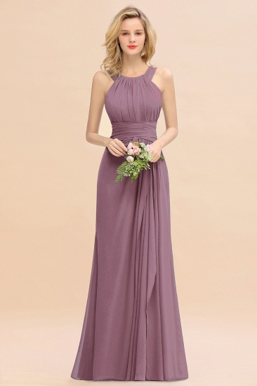 Elegant Round Neck Sleeveless Stormy Bridesmaid Dress with Ruffles_43