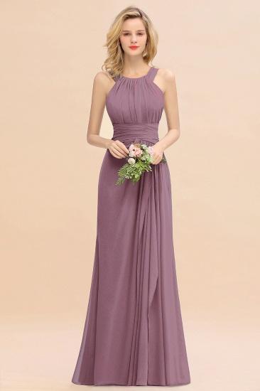 BMbridal Elegant Round Neck Sleeveless Stormy Bridesmaid Dress with Ruffles_43