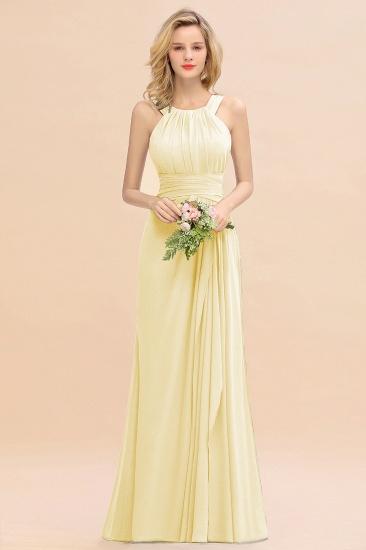 BMbridal Elegant Round Neck Sleeveless Stormy Bridesmaid Dress with Ruffles_18